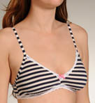 Betsey Johnson Intimates Going on Stripe Stretch Cotton Bralette Bra 725316