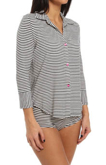 Betsey Johnson Intimates Stripe Rayon Knit Hipster Set 731700