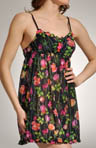 Betsey Johnson Intimates Thorn Star Knit Chiffon Chemise 732306