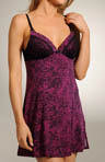 Betsey Johnson Intimates Slinky Knit Lace Slip Chemise 732413