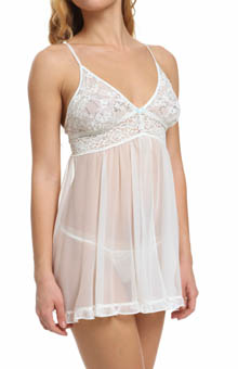 Betsey Johnson Intimates Sequin Lace & Tricot Babydoll 732708