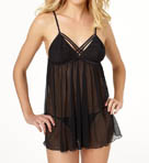 Betsey Johnson Intimates Mesh Open Cup Babydoll 732773