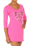 Betsey Johnson Intimates Stretch Cotton Sleepshirt Roses with Sparkles 733475