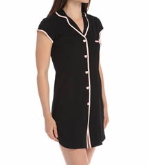 Betsey Johnson Intimates Stretch Cotton Notch Collar Sleepshirt 733754