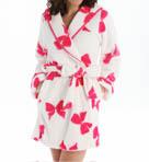Luxe Fleece Bow Hooded Robe Image