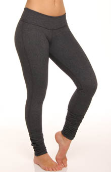 Supplex Heather Gray Gathered Long Legging