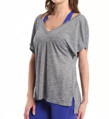 Beyond Yoga Slub Knit Double V Tee SN7197