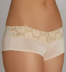 Solid Microfiber with Lace Hot Short Panty