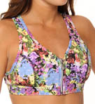 BodyRock Sport Zip 'Em Up Love For All Sports Bra BR4LV