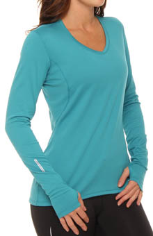 Essentials Long Sleeve V-Neck Top