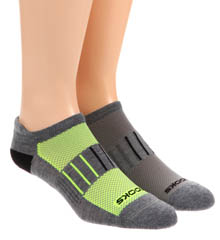 Brooks Essential Low Cut Tab Lite Socks - 2 Pack
