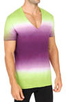 C-in2 Dip Dye Deep Vee T-Shirt 1511