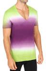 Dip Dye Deep Vee T-Shirt