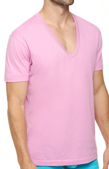 Pop Color V-Neck Tee