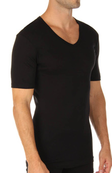 Business Class Short Sleeve V-Neck T-Shirt
