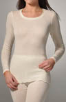 Confidence Wool Silk Long Sleeve Top