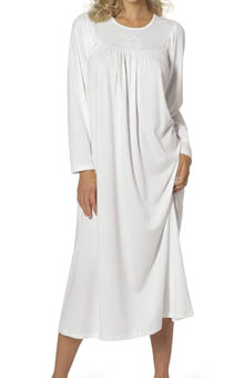 Soft Cotton Long Sleeve Nightgown