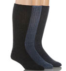 Cotton Rich Casual Rib 3 Pack Socks