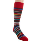 Barcode Multi Stripe Sock