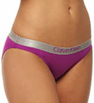 Metallic Chrome Cotton Bikini Panty