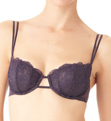 CK Black Underwire Boned Balconette Bra