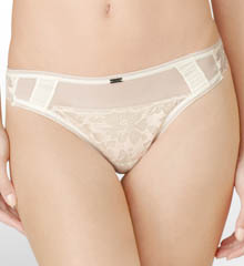 CK Black Bridal Thong