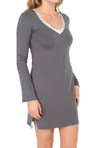 Calvin Klein Essentials Long Sleeve Nightdress w/ Shelf Bra S2455