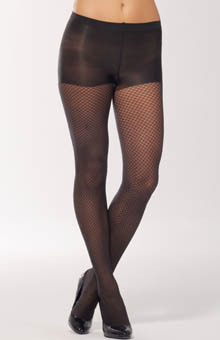 Calvin Klein Hosiery Net Texture Sheer Tight with Control Top 301