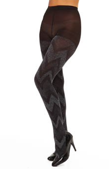 Calvin Klein Hosiery Lurex Flame Tights with a Control Top A36