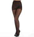 Window Pane Sheer Pantyhose With Control Top Image