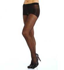 Calvin Klein Hosiery Lacey Geo Sheer Pantyhose with Control Top A48