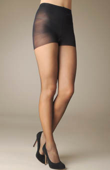 Chiffon Sheer Pantyhose with Control Top