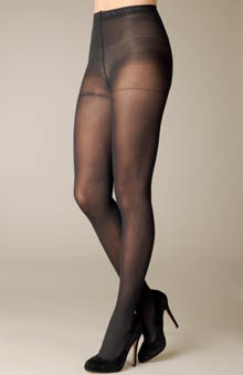 Velvet Opaque Pantyhose with Control Top