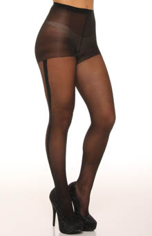 Bold Tuxedo Stripe Sheer to Waist Pantyhose