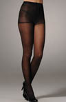 Twill Stripe Sheer Pantyhose with Control Top