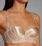 Carnival Satin Pleated Push Up Bra 508