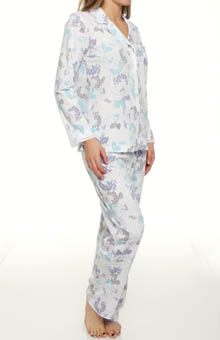 Airbrushed Rose Stencil Soft Jersey Pajama