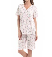 Carole Hochman 181752 Vintage Ditsy Bermuda Pajama Set