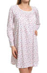Carole Hochman Whistful Rosebuds Long Sleeve Sleepshirt 182710