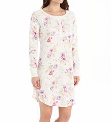 Carole Hochman 182850 Wild Blossom Long Sleeve Sleepshirt