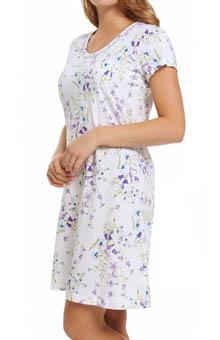 Carole Hochman Dancing Rosebud Stripe Sleepshirt 183702