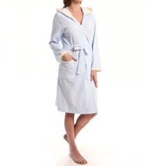 Carole Hochman Fresh Rose Tiles Short Hooded Robe 184722