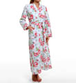 Whistful Rosebuds Long Diamond Quilted Robe Image