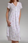 Dahlia Floral Stencil Long Gown