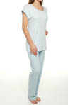 Carole Hochman Blue Stripe Soft Jersey Pajama Set 189465