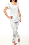Carole Hochman Butterfly Dream Slim Pant Pajama 189472