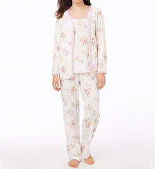 Carole Hochman 189815 Morning Glory 3 Piece Pajama Set