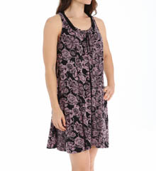 Carole Hochman Midnight 132850P Sweet Memories Floral Imprinted Chemise