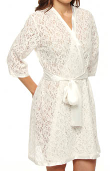 Carole Hochman Midnight Heart of Mine Lace Robe