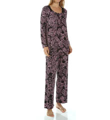 Carole Hochman Midnight 139850P Sweet Memories Floral Imprinted Long Pajama